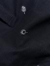 Polo Thêu HọaTiết ToànThân Màu Đen PO036