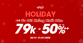 HOLIDAY SUPER SALE - 79K UPTO 50%++