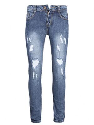 Quần Jeans Rách Xanh Đen QJ1564