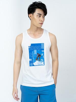 Áo Thun Ba Lỗ In The Blue AT011 Màu Trắng