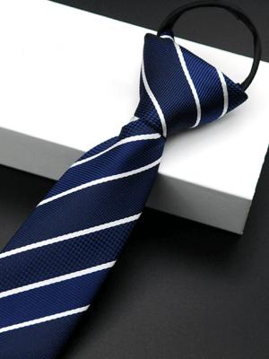 Cà Vạt Sọc CV005 Màu Trắng