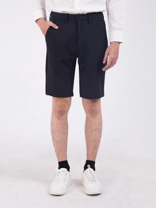 Quần Short Slimfit Màu Đen QS205