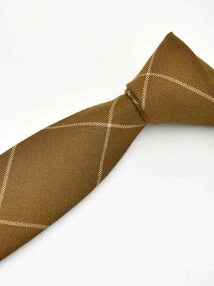 Cà Vạt Caro CV012 Màu Bò