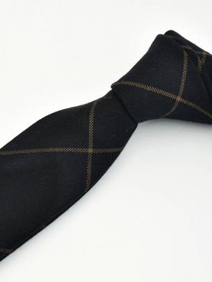 Cà Vạt Caro CV012 Màu Đen