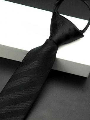 Cà Vạt Sọc CV010 Màu Đen
