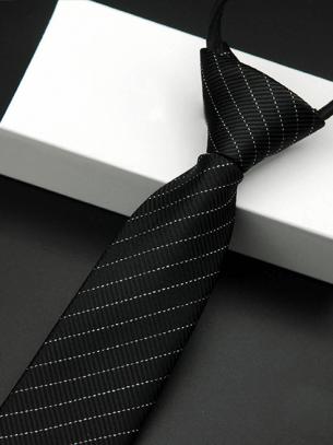 Cà Vạt Sọc CV011 Màu Đen