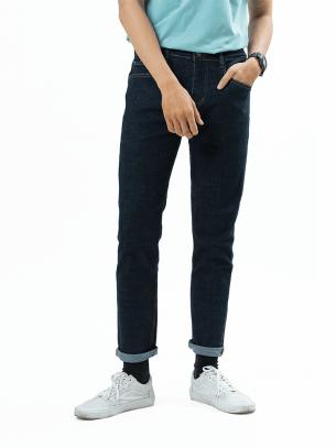 Quần Jeans Căn Bản Form Regular QJ006 Màu Xanh Đen