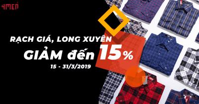 4MEN LONG XUYÊN, RẠCH GIÁ GIẢM ĐẾN 15%
