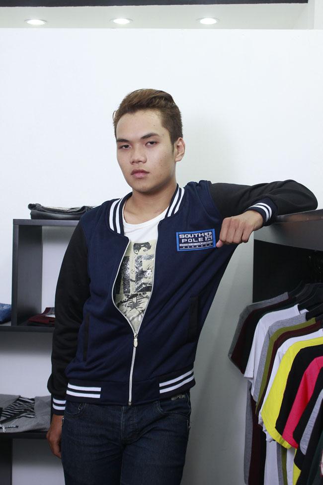 Áo khoác bóng chày k14 xanh đen - 1