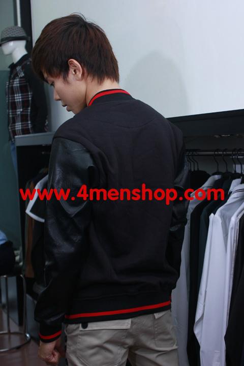 Áo khoác bóng chày k11 đen - 5