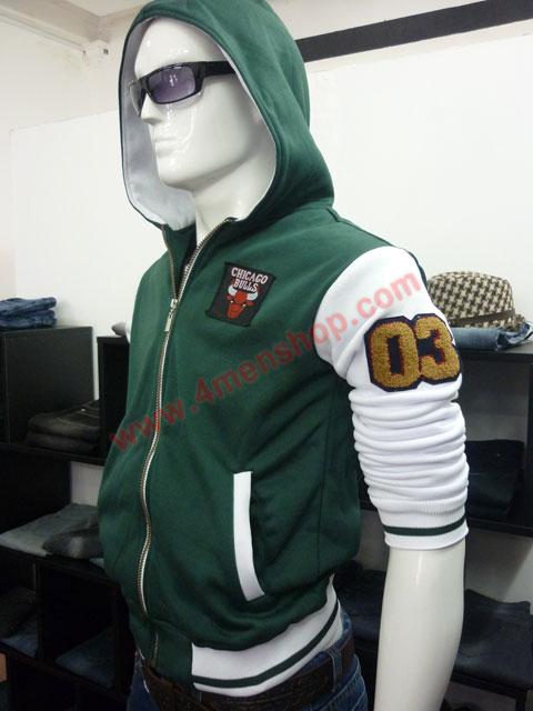 Áo khoác bóng chày k36 xanh rêu a - 2