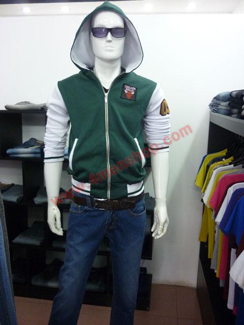 Áo khoác bóng chày k36 xanh rêu a - 3