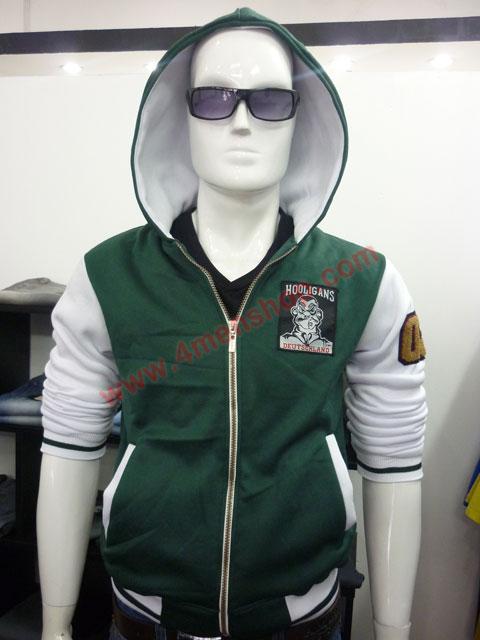 Áo khoác bóng chày k36 xanh rêu b - 1