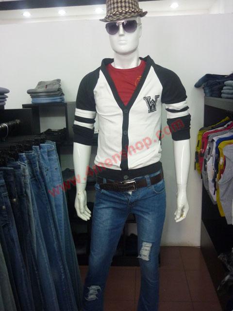 Áo khoác cardigan ac007 đen - 3