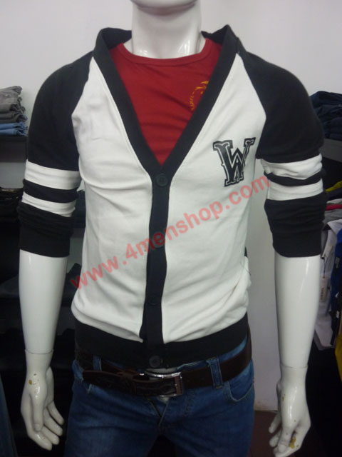 Áo khoác cardigan ac007 đen - 1
