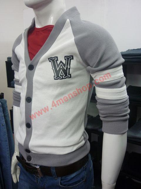Áo khoác cardigan ac007 xám - 2