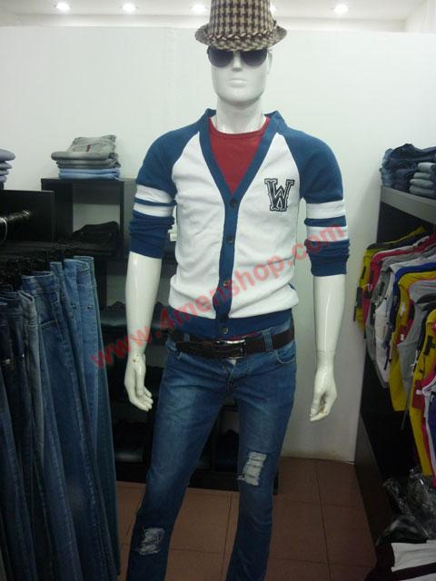 Áo khoác cardigan ac007 xanh dương - 3