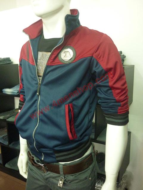 Áo khoác adidas k40 đỏ xanh đen - 2