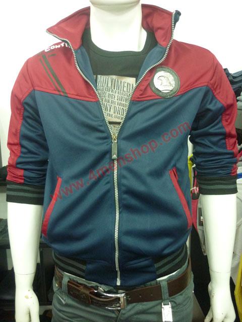 Áo khoác adidas k40 đỏ xanh đen - 1