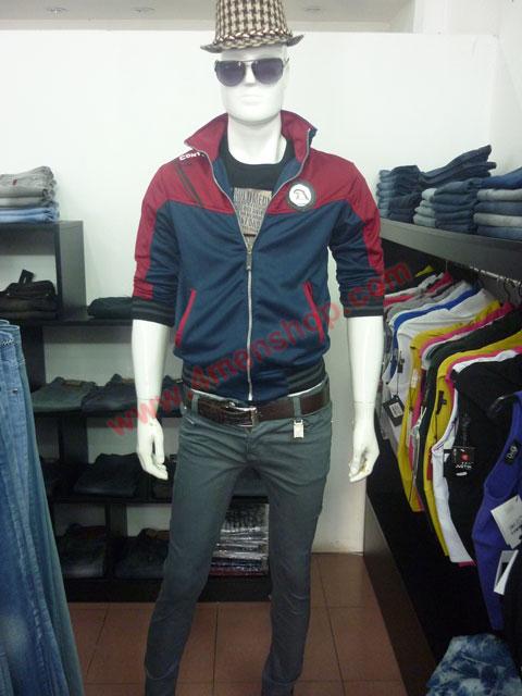 Áo khoác adidas k40 đỏ xanh đen - 3