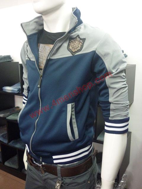 Áo khoác adidas k40 xám xanh đen - 2