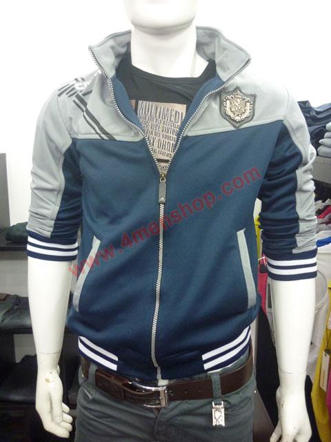 Áo khoác adidas k40 xám xanh đen - 1