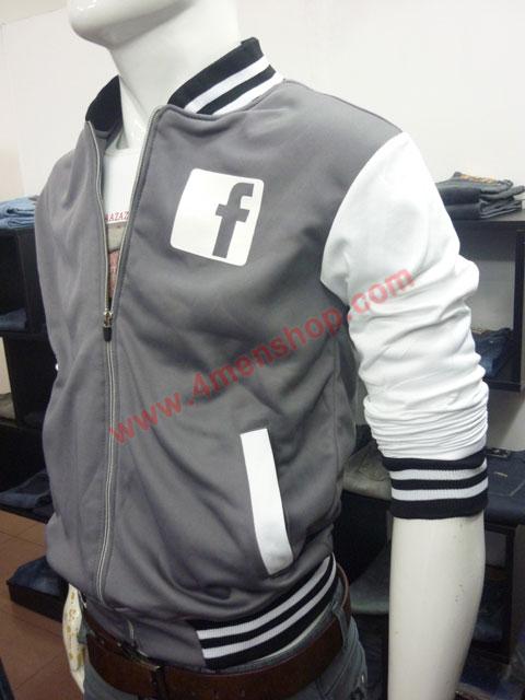 Áo khoác bóng chày facebook k42 xám - 2