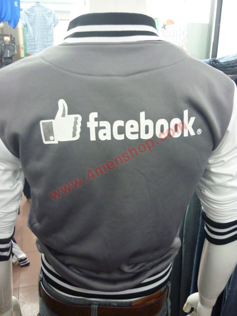 Áo khoác bóng chày facebook k42 xám - 3