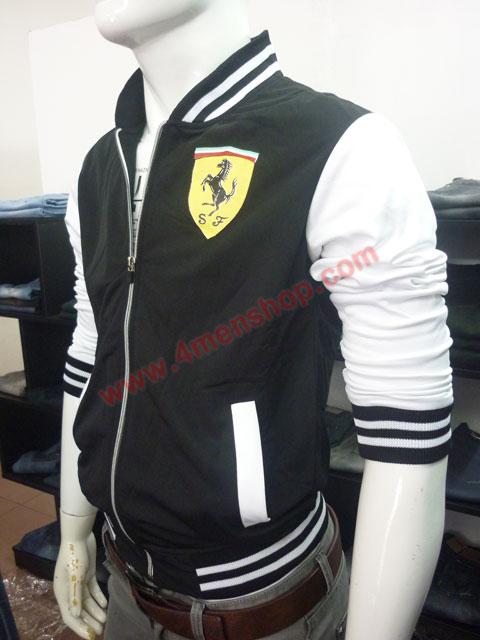 Áo khoác bóng chày ferrari k43 đen - 2