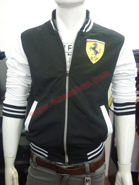 Áo khoác bóng chày ferrari k43 đen - 1