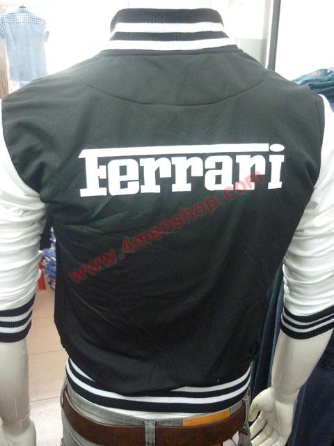 Áo khoác bóng chày ferrari k43 đen - 4