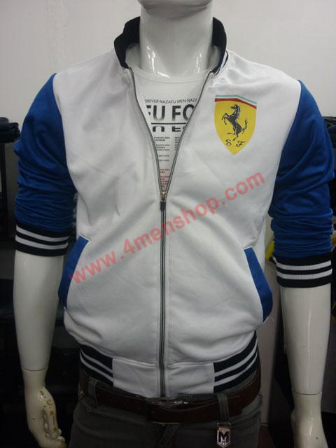Áo khoác bóng chày ferrari k43 trắng - 1