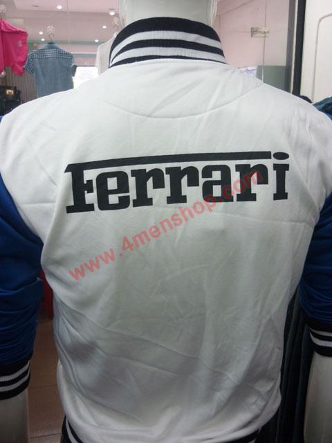 Áo khoác bóng chày ferrari k43 trắng - 3