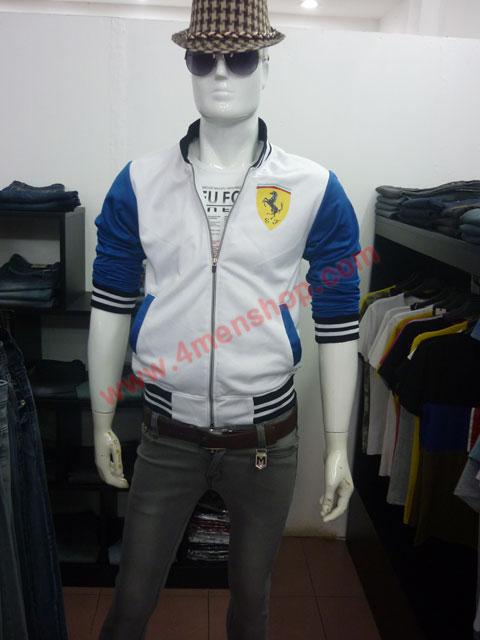 Áo khoác bóng chày ferrari k43 trắng - 4