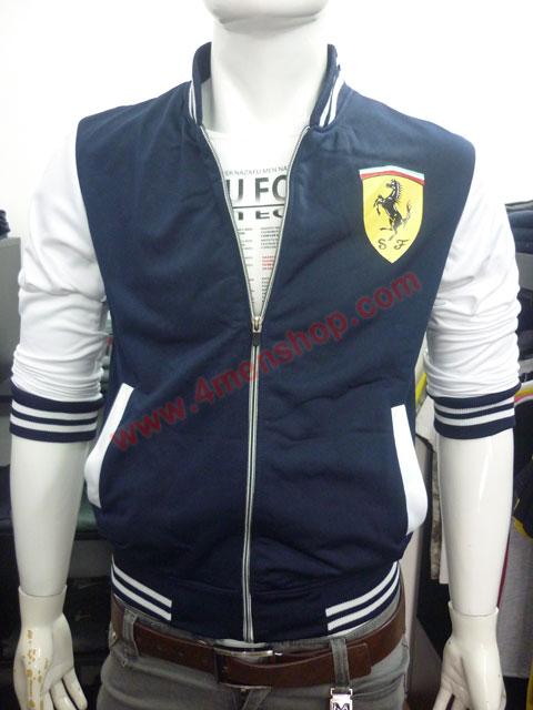 Áo khoác bóng chày ferrari k43 xanh đen - 1