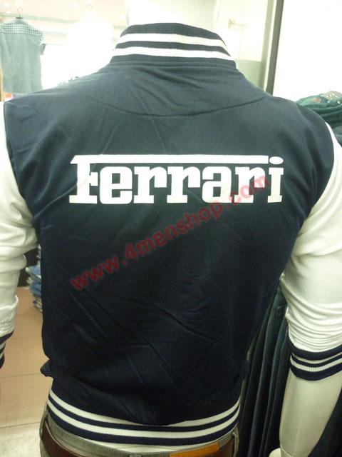 Áo khoác bóng chày ferrari k43 xanh đen - 3