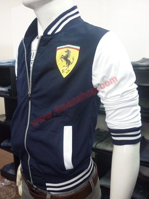 Áo khoác bóng chày ferrari k43 xanh đen - 2