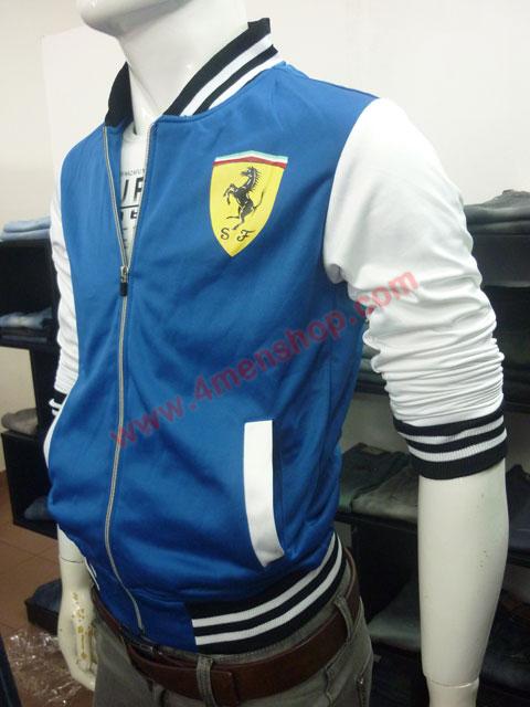 Áo khoác bóng chày ferrari k43 xanh dương - 2