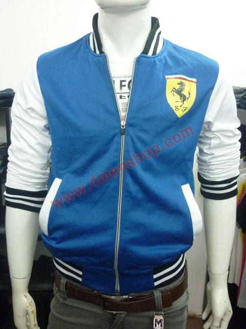 Áo khoác bóng chày ferrari k43 xanh dương - 1