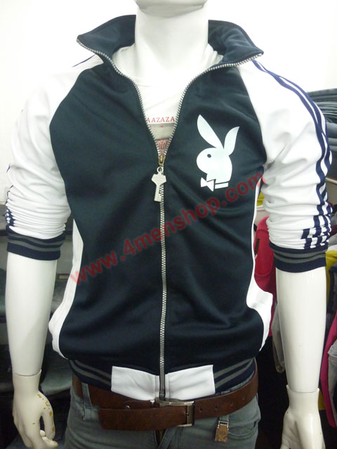 Áo khoác bóng chày playboy k41 đen - 1