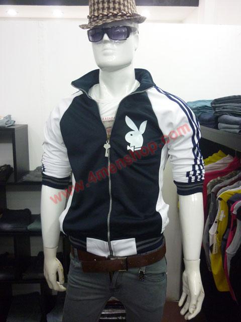 Áo khoác bóng chày playboy k41 đen - 3