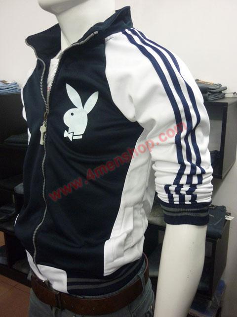 Áo khoác bóng chày playboy k41 đen - 2