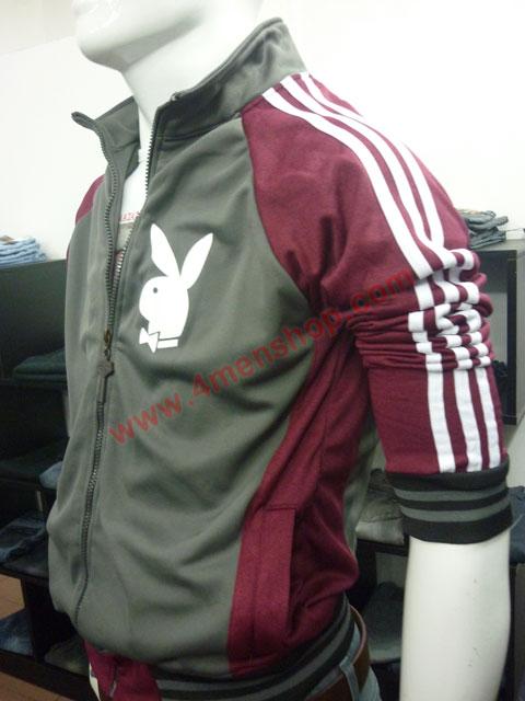 Áo khoác bóng chày playboy k41 đỏ đô - 1
