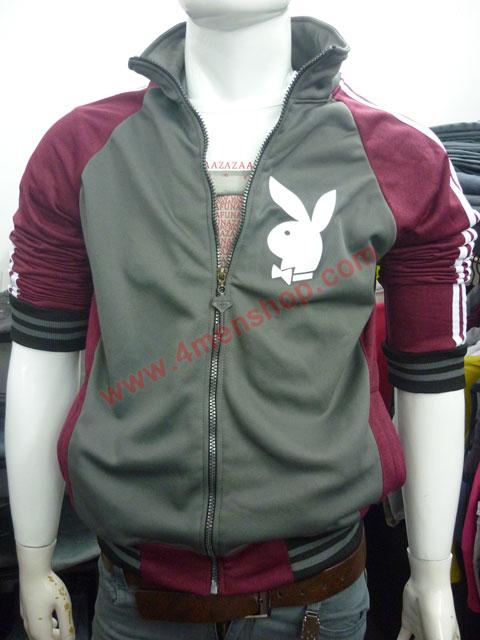 Áo khoác bóng chày playboy k41 đỏ đô - 2