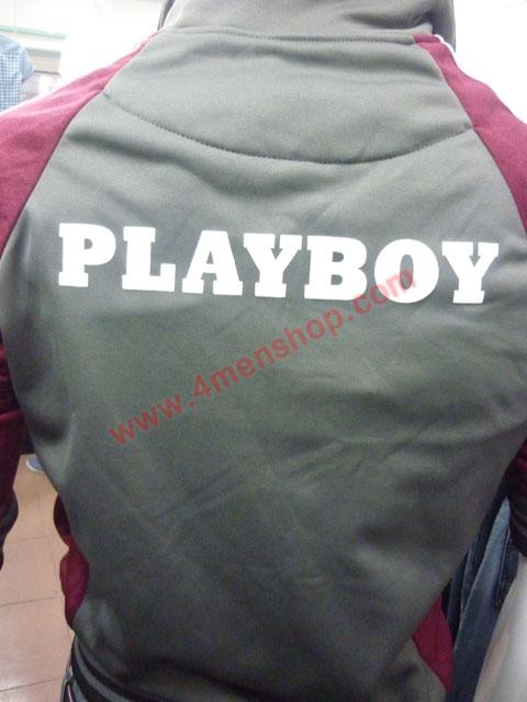 Áo khoác bóng chày playboy k41 đỏ đô - 3
