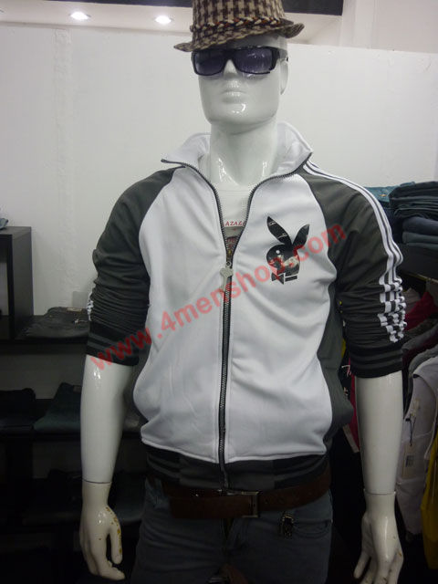 Áo khoác bóng chày playboy k41 xám đậm - 3