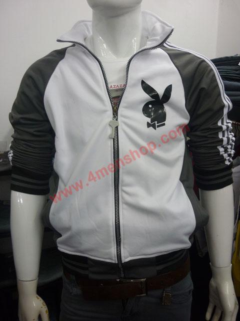 Áo khoác bóng chày playboy k41 xám đậm - 1