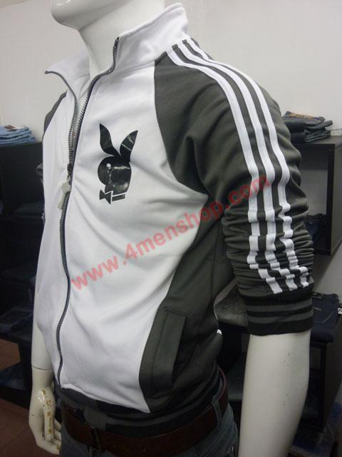 Áo khoác bóng chày playboy k41 xám đậm - 2
