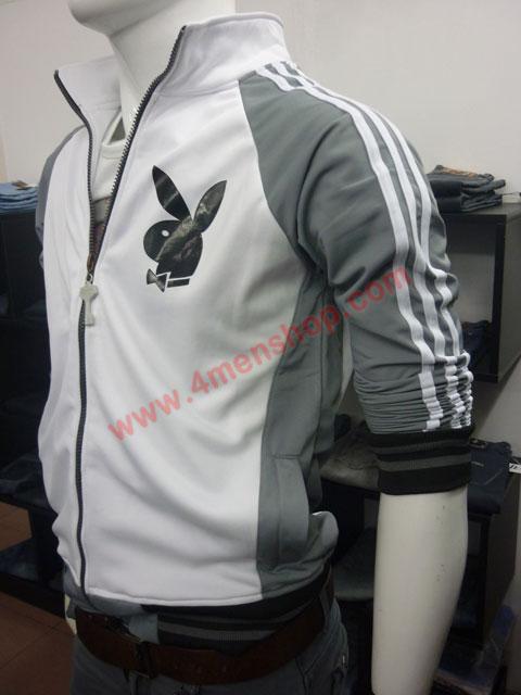 Áo khoác bóng chày playboy k41 xám nhạt - 2