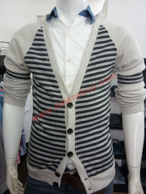 Áo khoác cardigan ac45 xám đen - 1